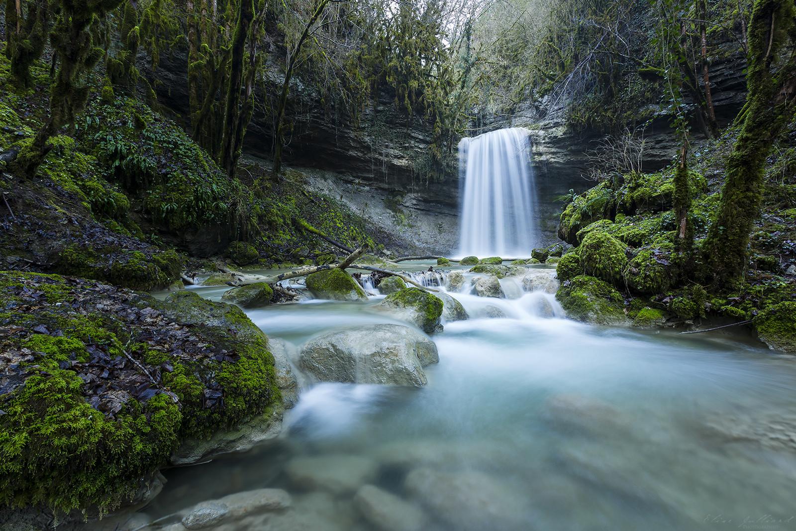 elise-julliard-photographe-rhone-alpes-ain-bugey-foret-mousse-riviere-photo-cascade